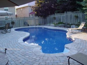 An in ground gunite pool built in Tulsa, OK